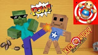 - Monster School KICK THE BUDDY GAME CHALLENGE Minecraft Animation