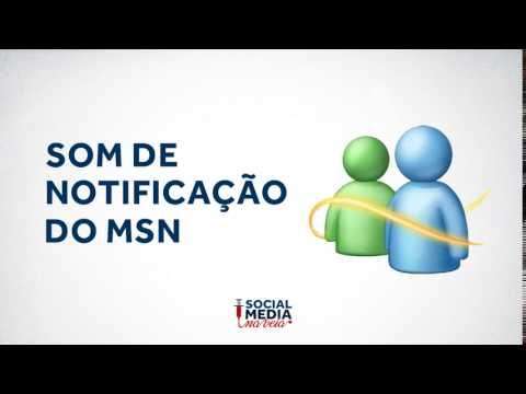Som de notificação do MSN