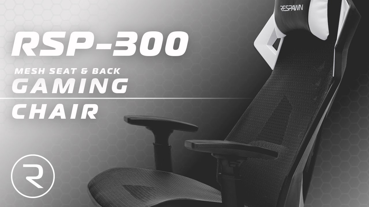 Mesh Gaming Chair Banquet Covers For Sale Respawn 300 Racing Style Youtube