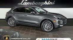 2018 Porsche Macan S Agate Gray Metallic L1339