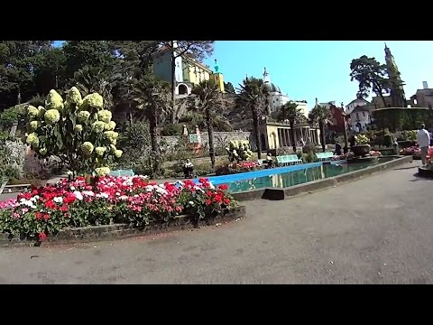 Portmeirion. North Wales. A scenic walk around.