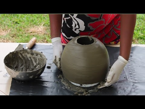 5 CEMENT CRAFT IDEAS WITH WINTER HAT