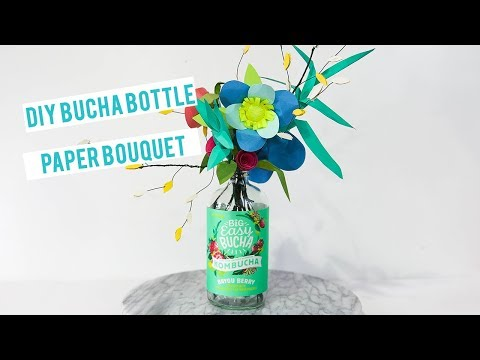 Drink & DIY Bucha Bouquet Paper Craft Project (in 13 Steps) by Big Easy Bucha