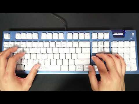 ABKO HACKER K9000 아틀란티스 카일 광축 완전방수 크리스탈 키캡 레인보우 (클릭) 키보드