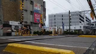 名鉄9R同士の連結!9500系9504F+9105F急行豊橋行き奥田13号踏切通過!