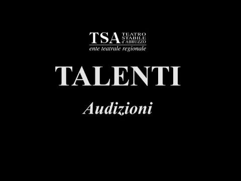 Audizioni 2015 Teatro Stabile d'Abruzzo