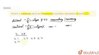 Quick Answer Is 2 5 A Rational Number Jinjaconnection Com The square root of 5, i.e., √5, is an irrational (emphasis, mine) number, not a rational number, because √5 = 2.236 (rounded to 3 decimal places) does not fulfill the definition of a rational number. jinjaconnection com
