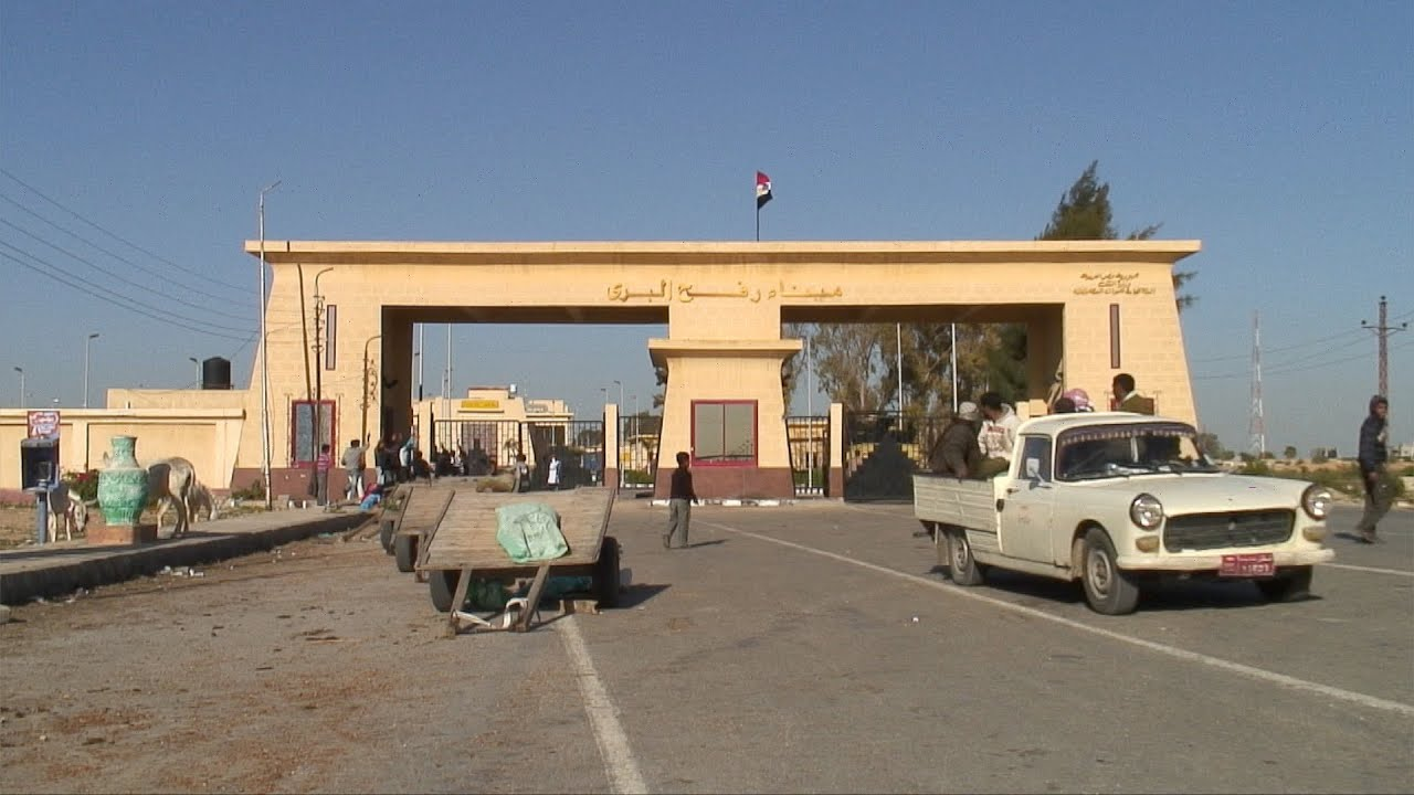 Prisoners Deported At Gaza Border Crossing in Rafah Egypt
