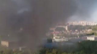 Sixteen people have been confirmed dead since a fire engulfed a printing office warehouse in the northeast of Moscow, the Emergency Ministry said. One of the victims sent to hospital has died there, t