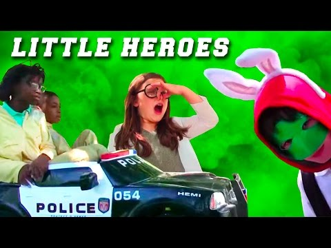 Little Heroes  26 - The Kid Police & The Stinker! Eggs, Bionic Chicken, Scientist & the Police Car!