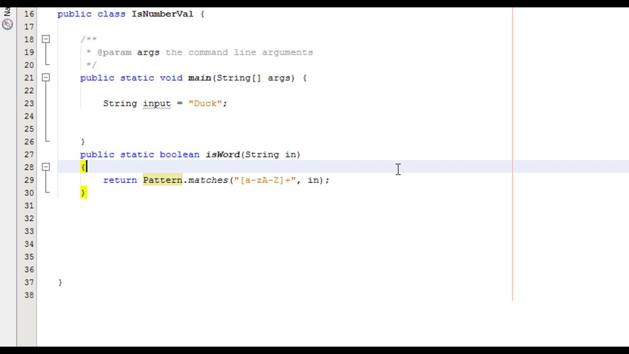 Java Validation Validating A Name Youtube