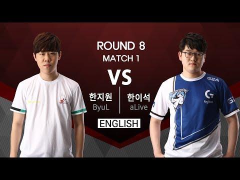 [SSL Premier] 170821 R8 Match 1 ByuL vs aLive