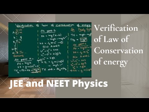 Verification of Law of Conservation of energy Freely Falling Body