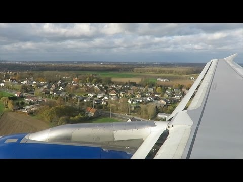 Scary landing: British Airways A320 go-around in stormy weather (Brussels Airport)