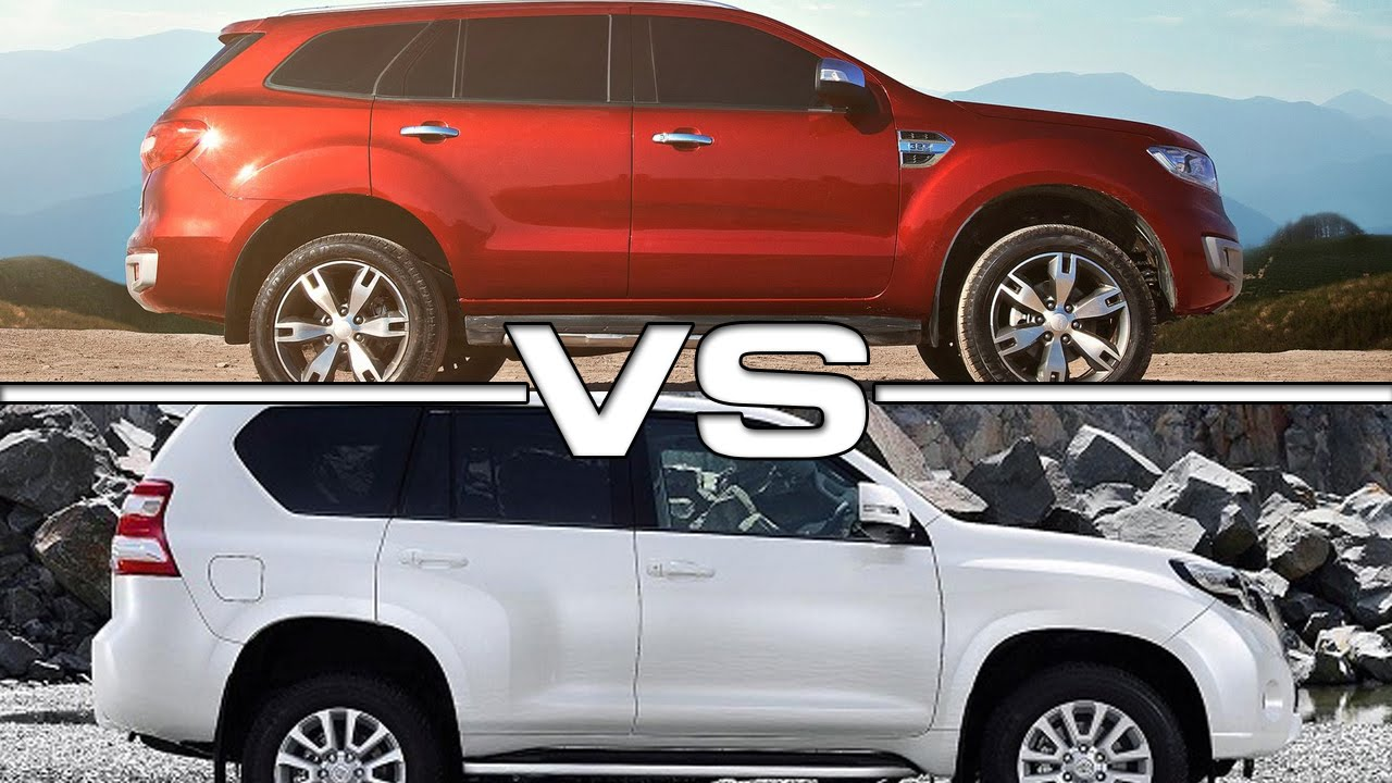 2016 Ford Everest Vs 2016 Toyota Land Cruiser Prado Youtube
