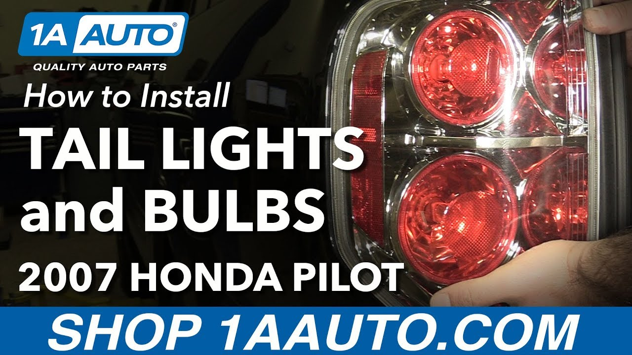 How To Replace Tail Light Assembly And Bulbs 06 08 Honda Pilot Youtube 2000 Odyssey Headlight Wiring