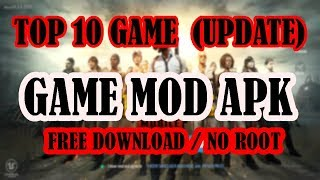Gambar cover NEW! TOP10 UPDATE GAME MOD APK UNLIMITED MONEY+GEMS