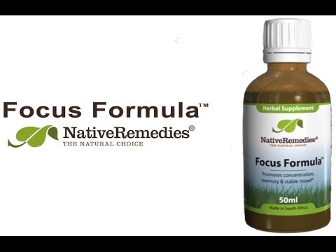 Native Remedies Focus Formula - Natural ADHD Remedy to Help Concentration & Attention
