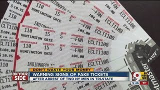 How to spot fake tickets to concerts and sporting events