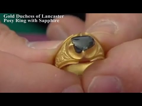 Medieval Gold Duchess of Lancaster Posy Ring with Sapphire