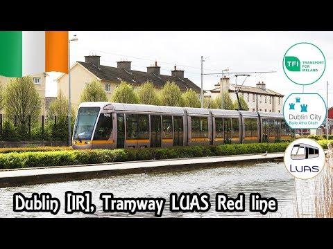 Dublin, Irlande [IR] Tramway LUAS de la Red line en direction de Saggart