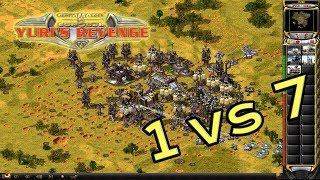 Red Alert 2 - Bunkering At Middle - 7 Brutals vs 1