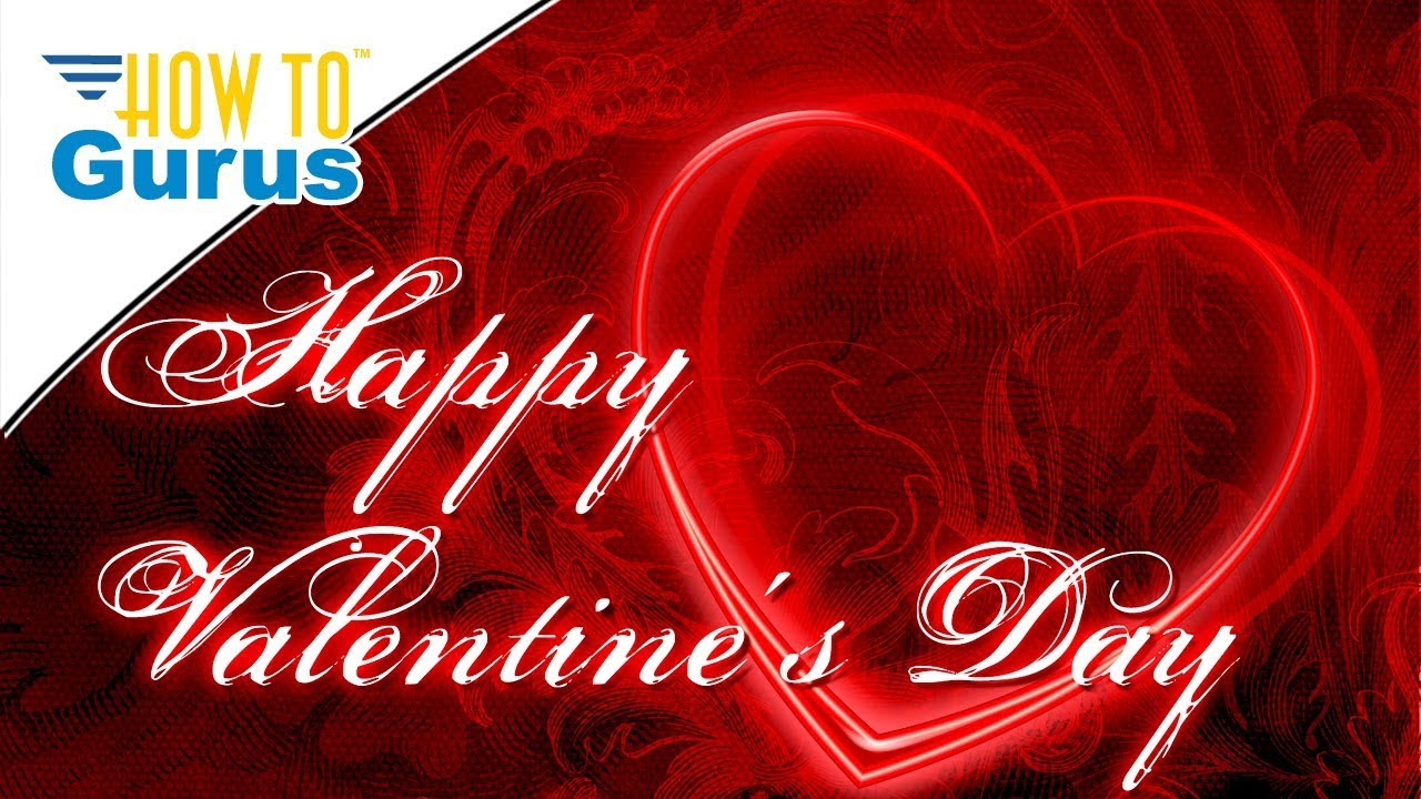 Photoshop Elements Happy Valentines Day 2018 Romantic Greeting Card