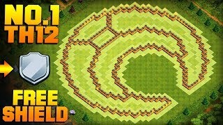 MOST EPIC TH12 FARMING BASE + PROOF!   Moon   CoC Town Hall 12 FREE SHIELD Base   Clash of Clans