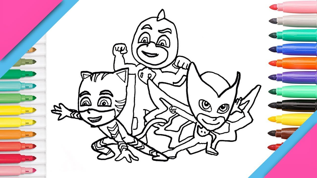 Dibujar Y Colorear Pj Mask O Héroes En Pijamas Wekids