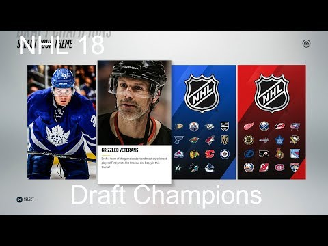 NHL 18 Draft Champions  89 OVR (Best OVR Yet)