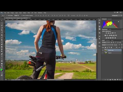 Переход из лайтрум в фотошоп и использование фильтра Liquify