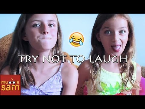 Sophia and Bella TRY NOT TO LAUGH CHALLENGE!! 😂 Mugglesam