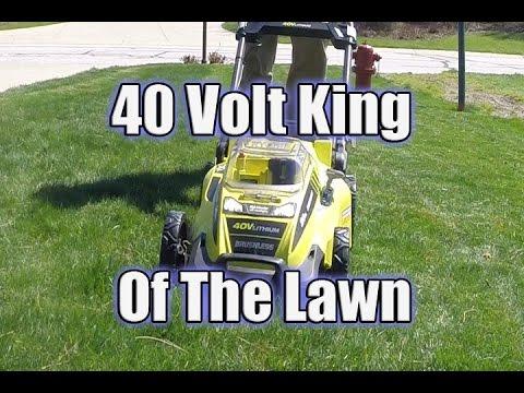 Ryobi 20 40 Volt Brushless Lawn Mower Review Ry40180