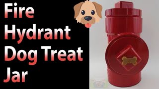 DIY Fire Hydrant Dog Treat Jar - Learn How to make this fast and easy container