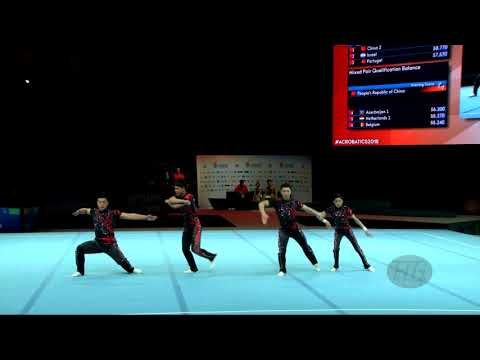 China 1 (CHN) - 2018 Acrobatic Worlds, Antwerpen (BEL) - Dynamic  Men's Group