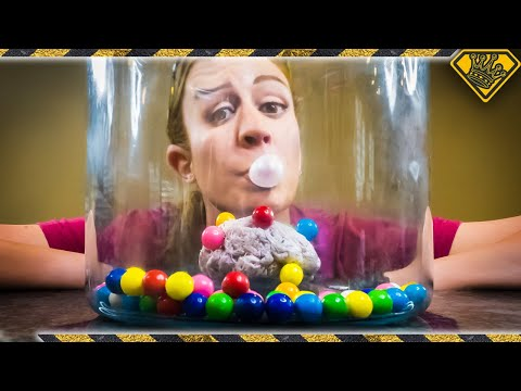 Blowing Bubbles in a Vacuum Chamber