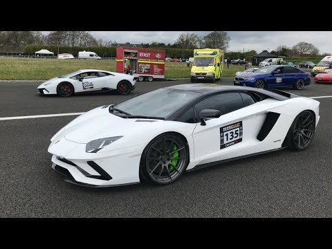 Lamborghini Aventador S vs Huracan Performante - Runwayclub Live - Stavros969
