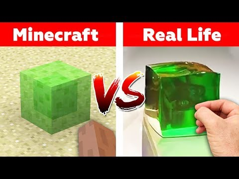 MINECRAFT SLIME BLOCK IN REAL LIFE! Minecraft vs Real Life animation challenge