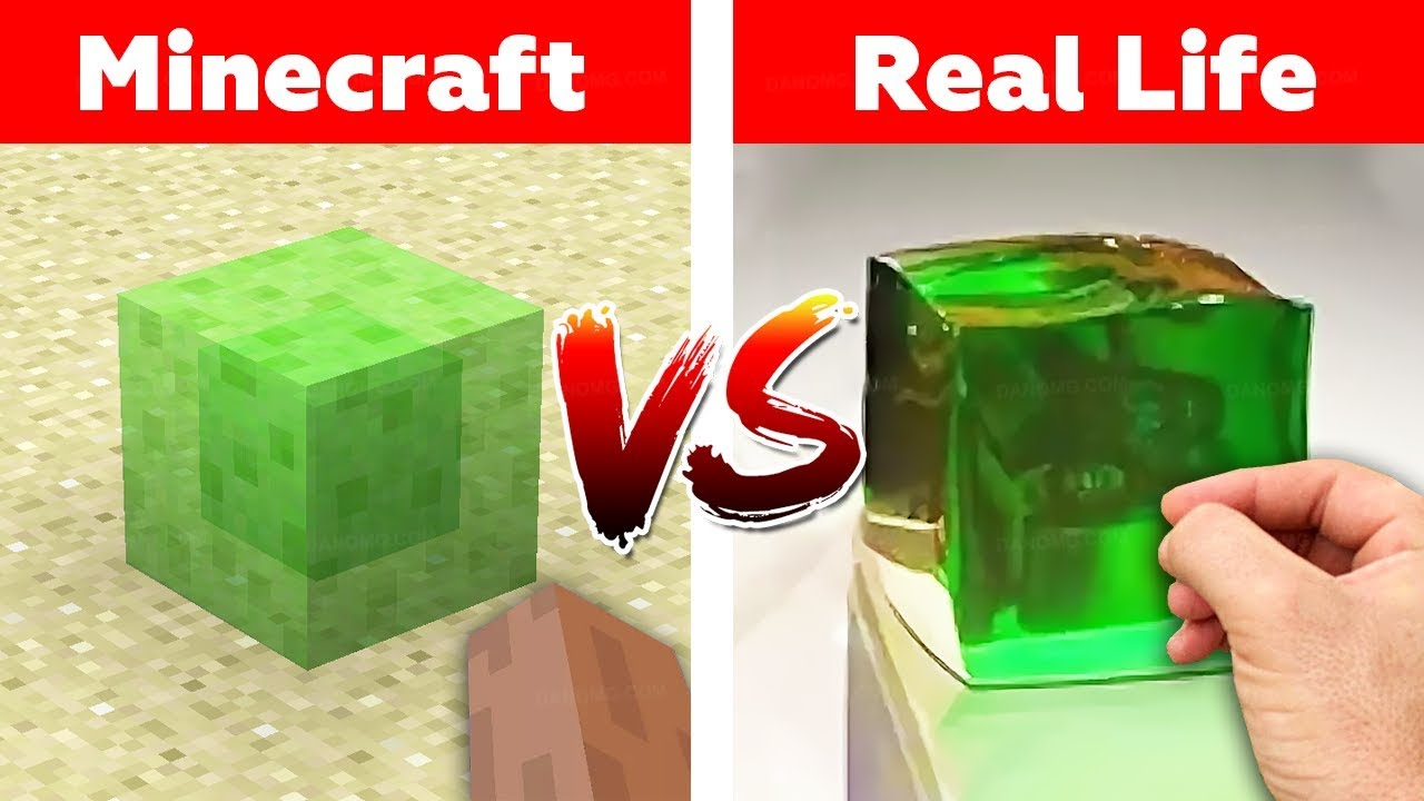 MINECRAFT SLIME BLOCK IN REAL LIFE! Minecraft vs Real Life animation challenge thumbnail