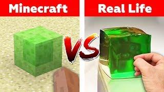 MINECRAFT BLOQUE DE SLIME EN LA VIDA REAL! Minecraft vs la Vida Real de la animación reto