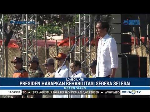 """Pidato Jokowi Di Apel Siaga """"NTB Bangun Kembali"""""""