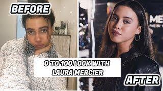 0-100 MAKEUP LOOK WITH LAURA MERCIER ||Asia Monet