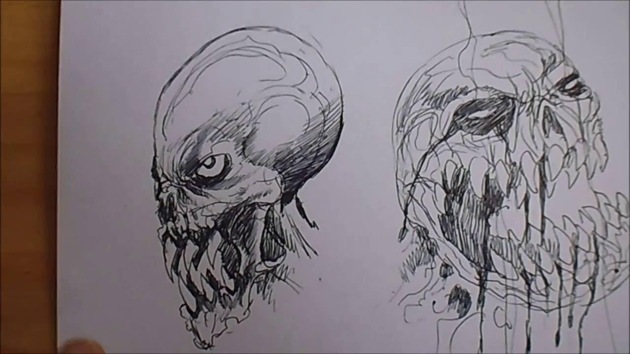 Line Drawing Monster : Drawing monster head ideas youtube