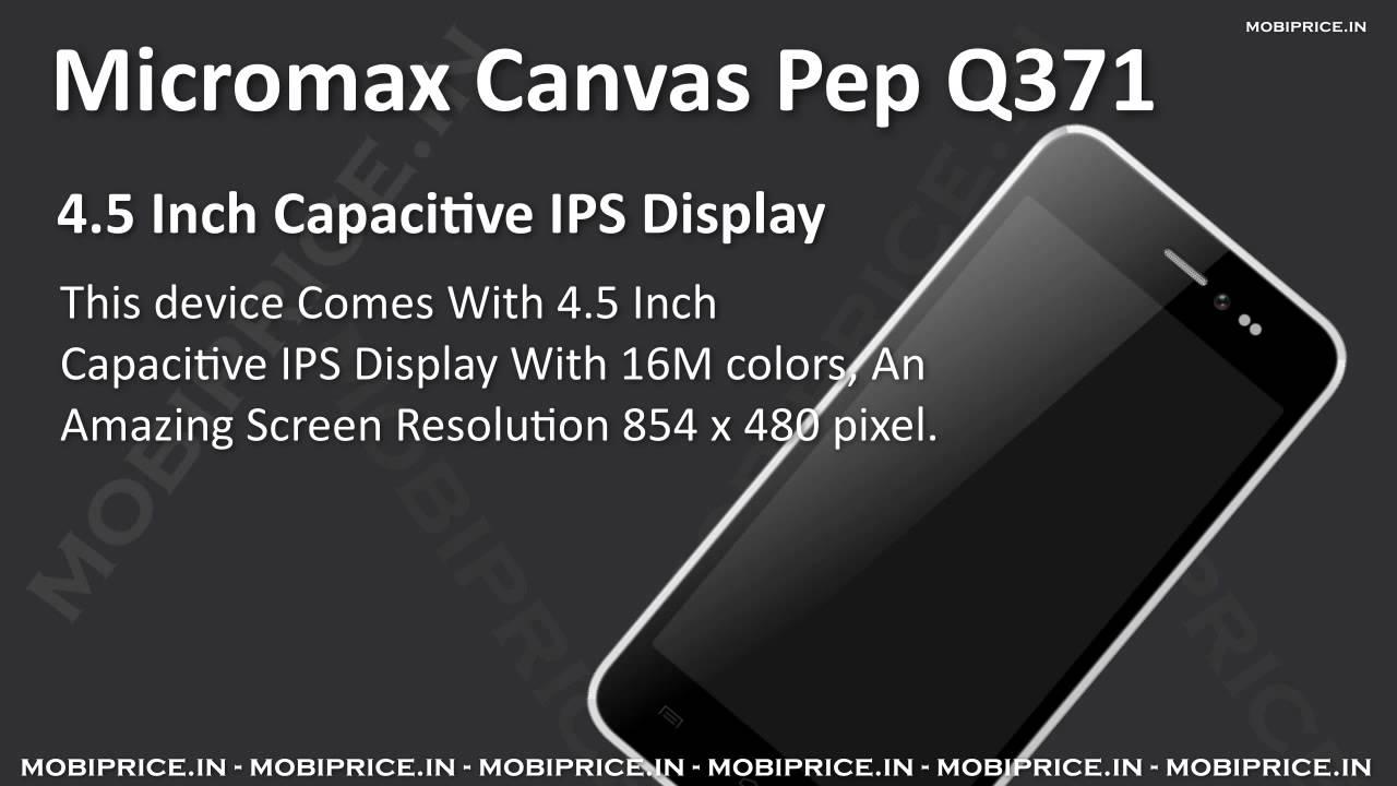 Micromax Canvas Pep Q371 APN settings & network