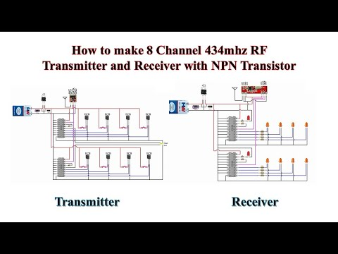 How to make 8 Channel 434mhz RF Transmitter and Receiver with NPN Transistor