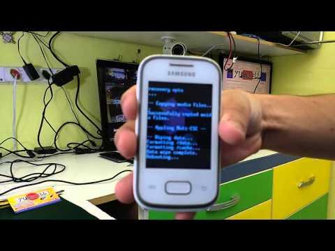Como tirar senha desbloquear formatar restaura Samsung Galaxy Pocket GT S5300