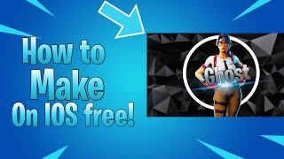 How to make a fortnite logo free on iOS