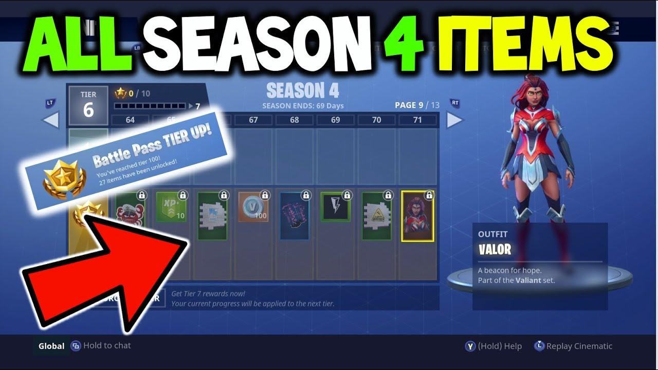 buying the season 4 battle pass all season 4 items fortnite all sesason 4 battle pass items - fortnite should i buy battle pass late