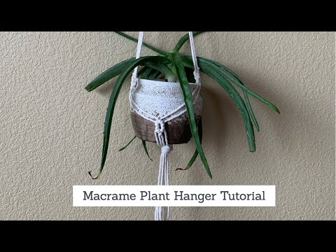 macrame-plant-hanger-tutorial -mini-diamond-pattern -step-by-step -diy-macrame-plant-hager