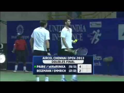 Aircel Chennai Open 2013 : Final : Paire. B / Wawrinka. S vs   Begemann. A / Emmrich. M